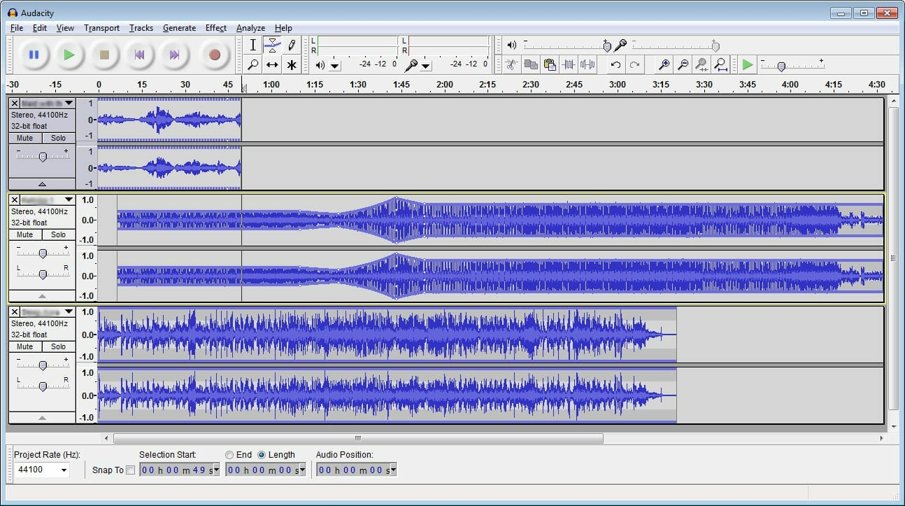 Audacity is a free podcast editing software
