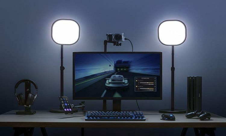 how to set up lights for streaming