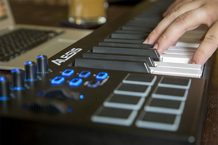 What does a MIDI keyboard do?