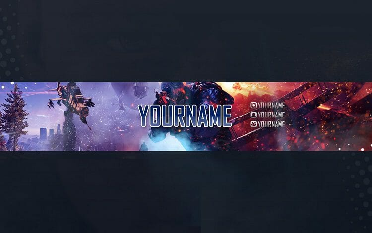 customization with gaming banner
